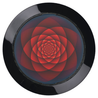 Kaleidoscope Fractal - red rose + your ideas USB Charging Station