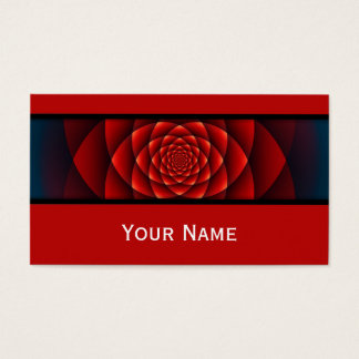 Kaleidoscope Fractal - red rose + your text Business Card
