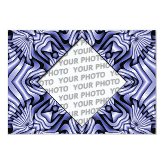 Kaleidoscope frameART - blue + your photo & text Card