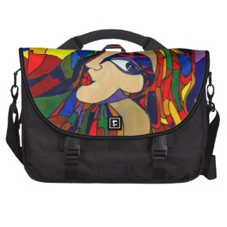 Kaleidoscope Girl - Rickshaw Commuter Laptop Bag