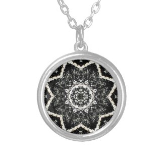 Kaleidoscope Gothic Personalized Necklace