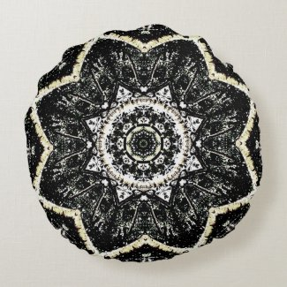 Kaleidoscope Gothic Round Pillow