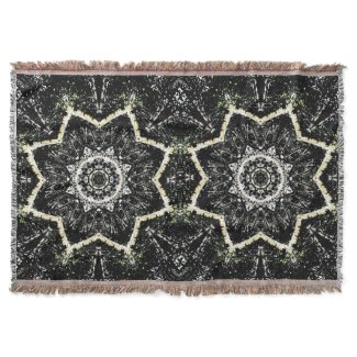 Kaleidoscope Gothic Throw Blanket