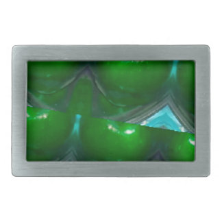 kaleidoscope Green apple's.jpg Rectangular Belt Buckle