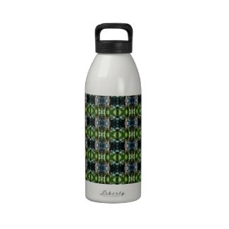 Kaleidoscope green drinking bottle