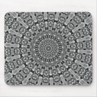 Kaleidoscope grey Star Mouse Pad