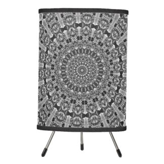 Kaleidoscope grey Star Tripod Lamp