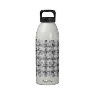 Kaleidoscope grey water bottle