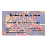 kaleidoscope hand playing red keyboard orange blue business card templates