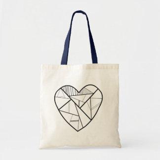 Kaleidoscope Heart Tote Bag (Black and White)