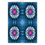 Kaleidoscope in Blue Greeting Cards