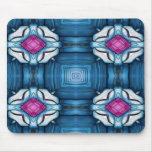 Kaleidoscope in Blue Mouse Pads