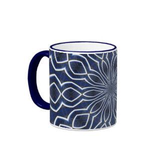 Kaleidoscope in Blue Ringer Coffee Mug