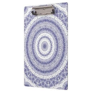Kaleidoscope in Blue & White Clipboard