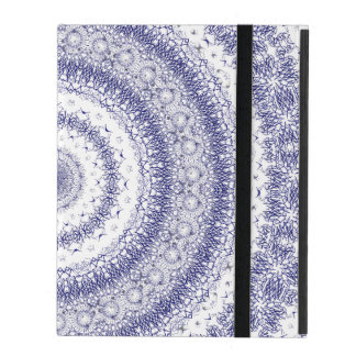 Kaleidoscope in Blue & White iPad Covers