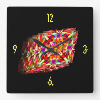 Kaleidoscope in Motion Square Wall Clock