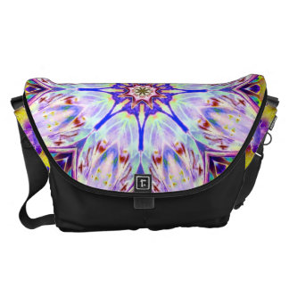Kaleidoscope in Peacock- a magical blend of color Messenger Bags