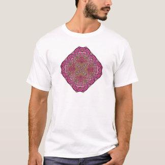 Kaleidoscope in Pink Basic T-Shirt