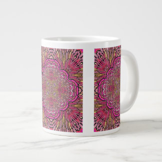 """Kaleidoscope in Pink"" Large Coffee Mug"