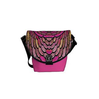 Kaleidoscope in Pink Mini Messenger Bag (v.1)