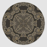 Kaleidoscope Kreations Black Tapestry 2 Classic Round Sticker