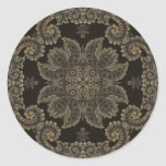 Kaleidoscope Kreations Black Tapestry 3 Classic Round Sticker