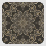 Kaleidoscope Kreations Black Tapestry 3 Square Sticker