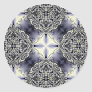 Kaleidoscope Kreations Clouds Stickers (Customise) Round Sticker