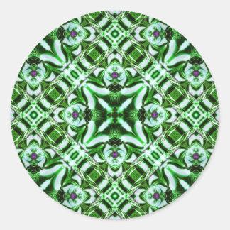Kaleidoscope Kreations Emerald Stickers(Customise) Round Sticker