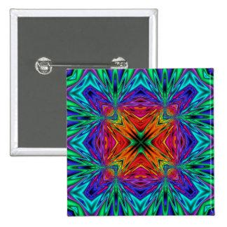 Kaleidoscope Kreations Flashing Fractal No1 Pinback Button