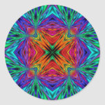 Kaleidoscope Kreations Flashing Fractal No1 Classic Round Sticker