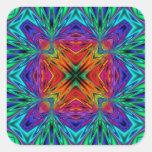 Kaleidoscope Kreations Flashing Fractal No1 Square Stickers