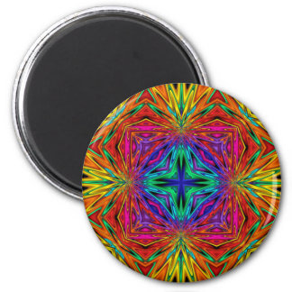 Kaleidoscope Kreations Flashing Fractal No2 2 Inch Round Magnet