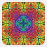 Kaleidoscope Kreations Flashing Fractal No2 Square Sticker