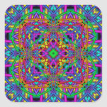 Kaleidoscope Kreations Fun Fractals No 1 Square Sticker