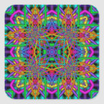 Kaleidoscope Kreations Fun Fractals No 2 Square Sticker