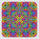 Kaleidoscope Kreations Fun Fractals No 4 Square Sticker