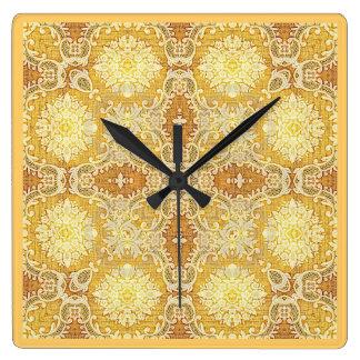Kaleidoscope Kreations Gold Tapestry Clock