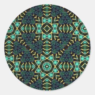 Kaleidoscope Kreations Green Stickers (Customise) Round Sticker