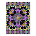 Kaleidoscope Kreations Lemon & Lilac No 3 Postcard