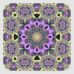 Kaleidoscope Kreations Lemon & Lilac No 3 Square Sticker