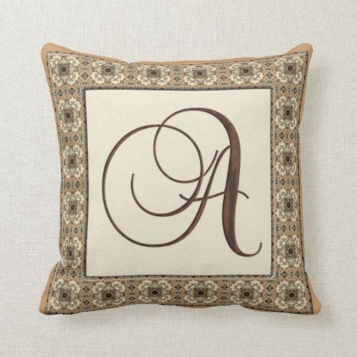 Kaleidoscope Kreations Monogram Letter A Pillow