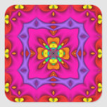 Kaleidoscope Kreations Neon No 2 Square Sticker
