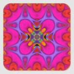 Kaleidoscope Kreations Neon No 3 Square Sticker