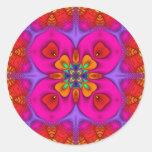 Kaleidoscope Kreations Neon No 4 Classic Round Sticker