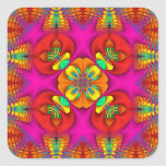 Kaleidoscope Kreations Neon Purr Square Sticker