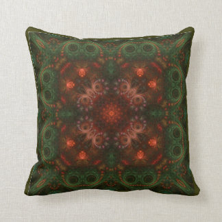 Kaleidoscope Kreations Olive and Coral Pillow
