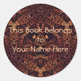 Kaleidoscope Kreations PE536 Book Labels Classic Round Sticker