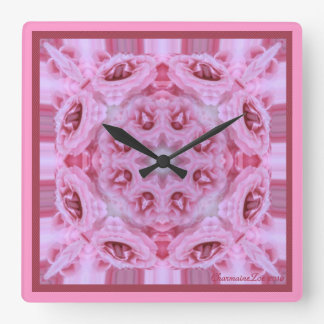 Kaleidoscope Kreations Pink Rose Clock