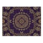 Kaleidoscope Kreations Purple & Gold 3 Postcard